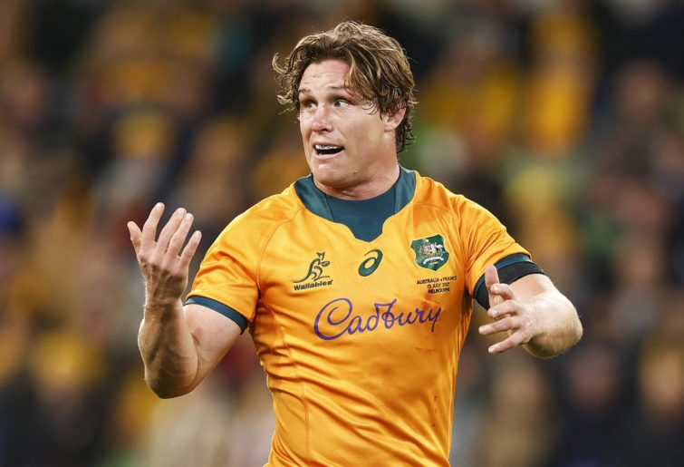 Michael Hooper captained the Wallabies against France