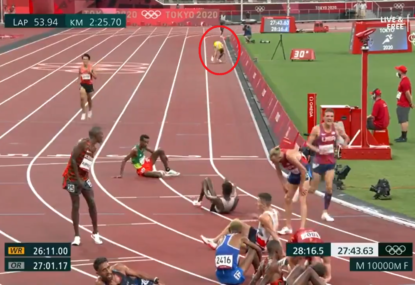 WATCH: Exhausted Aussie's heroic effort to complete 10,000m is what the Olympics are all about