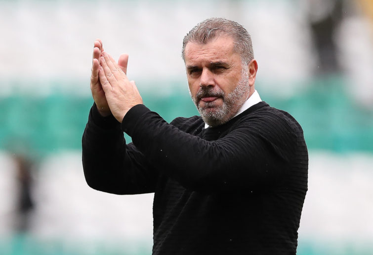 Ange Postecoglou is seen at full time