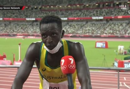 WATCH: Peter Bol's classy post-race interview after finishing fourth