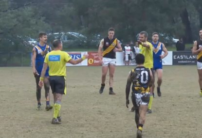 KNOW YOUR LAWS: Two different free kicks simultaneously called in Aussie Rules game
