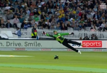 Aussie rising star gobsmacked by the catch of the year
