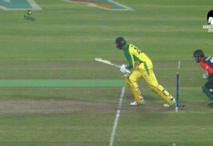 Ashton Agar's dismissal sums up Australia's unfortunate night against Bangladesh