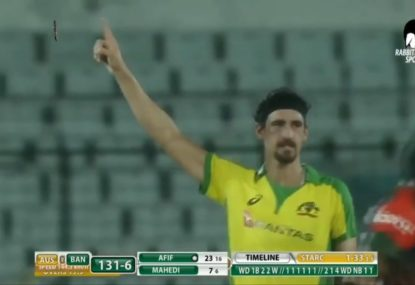 HIGHLIGHTS: Mitchell Starc passes bowling milestone in disappointing T20 loss to Bangladesh