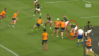 Ref has absolutely no time for Quade Cooper despite getting poked in the eye