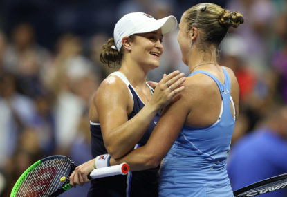Barty blows big lead to crash out of US Open
