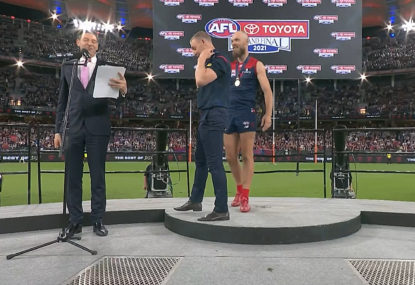 'Basil cooked that': Footy world outraged over incredible grand final presentation oversight