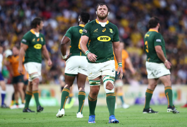 Duane Vermeulen of South Africa looks on