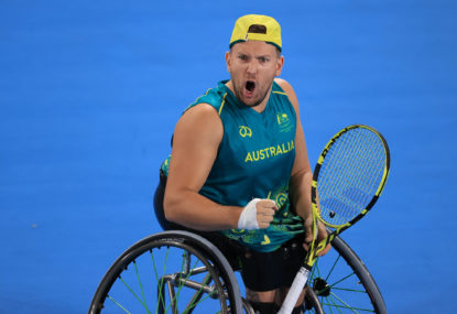 Alcott again! Aussie champion defends Paralympic gold