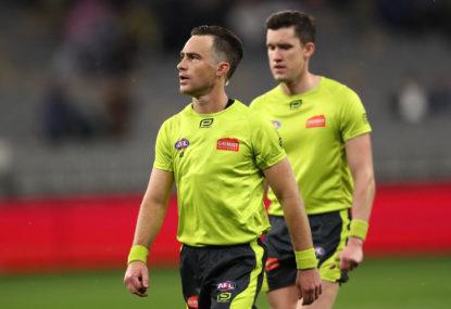 Debutant named as AFL reveals grand final umpires