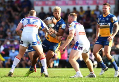 Controversial penalty try call helps Eels slither past Knights