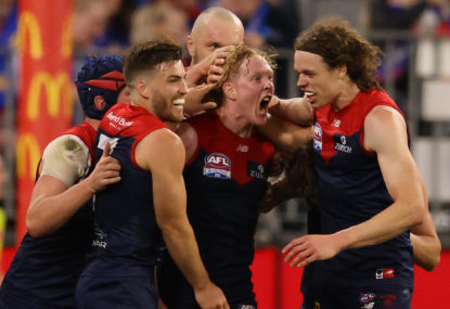 GRAND FINAL RESULT: Second-half avalanche sees Demons smash Dogs, end premiership drought