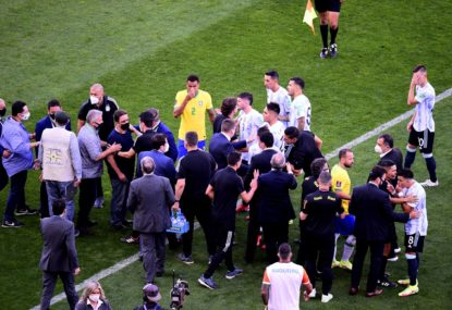 Absolute farce as Brazil vs Argentina suspended after just six minutes