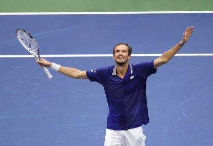 Medvedev ends Djokovic's grand slam bid