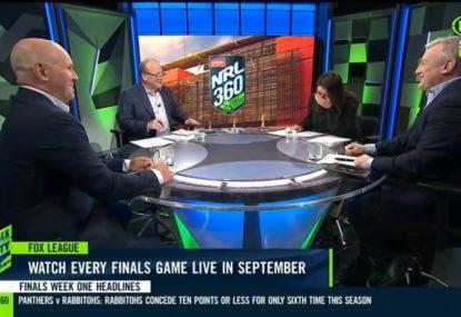 Debate over Sam Walker's winning field goal descends into all-out laughter on NRL360 panel