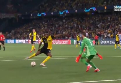 Dramatic scenes as Young Boys shock Man United with extremely late matchwinner