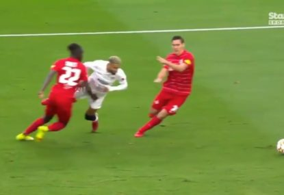 WATCH: Sevilla player red-carded for diving while trying to win the FIFTH penalty of the match