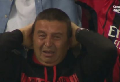 AC Milan fan's emotional reaction to taking the lead on Liverpool comes back to haunt him