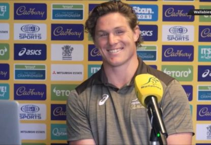Michael Hooper's coy response over teammates' reaction to upcoming captaincy milestone