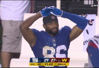 New York Giants manage to sabotage themselves in last second, throw away first win