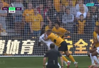 Wolves resort to 'rugby' tackling and unsporting tactics to stop Brentford from scoring