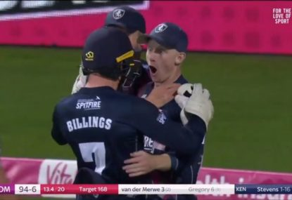 'Oh no!' Jaws drop as Englishman pulls off outrageous piece of fielding