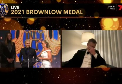 Shai Bolton's cheeky response after pipping Jack Riewoldt for Mark of the Year