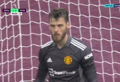 David de Gea heroically saves last-minute penalty and Manchester United's bacon in chaotic finish