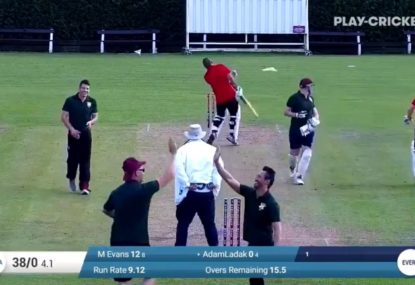 The ending to this village cricket blooper is the icing on the cake