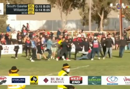 Ugly crowd fight overshadows dramatic comeback win in country SA grand final