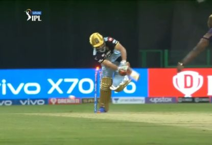 Andre Russell produces perfect yorker to snare ABD for a golden duck