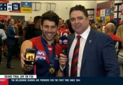 Garry Lyon gatecrashes Demons players' video calls with their families