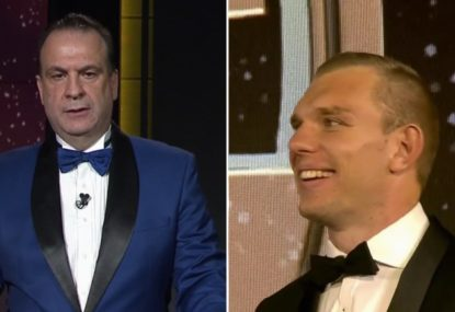 Tom Trbojevic amused at the new name given to his teammate in Peter V'landys gaffe