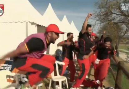 Germany defeat Italy in cricket match after an absolutely CRAZY final over