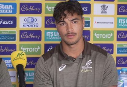 Nic White and Jordan Petaia discuss their roles as Petaia hints at positional change