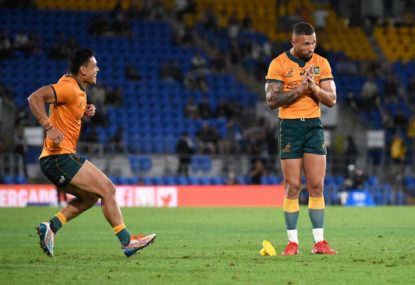 'I love you brother': Quade's beautiful exchange with Sonny Bill after Wallabies heroics