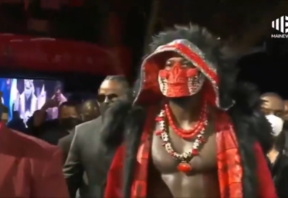 WATCH: Deontay Wilder's epic entrance to fight with Tyson Fury