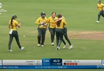 WATCH the most insane finish to a cricket match as Brazil takes FIVE straight wickets to win!