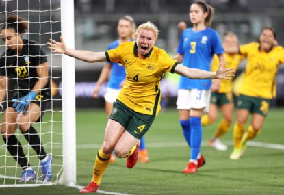 Happy homecoming: Matildas take down Brazil in exhilarating preview of World Cup thrills