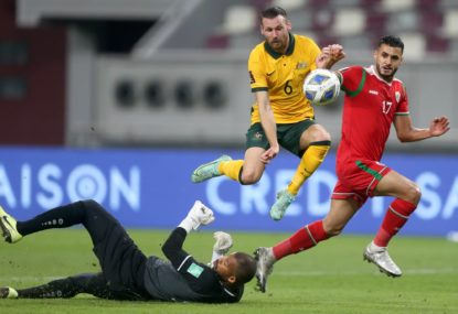HISTORY MAKERS! Socceroos charge on with record 11th straight World Cup win, as Japan falter again