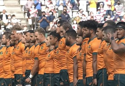 Laughs all round as Wallabies spectacularly stuff up the national anthem