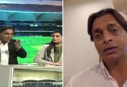 WATCH: Shoaib Akhtar explains extraordinary live-on-air walkout on Pakistan TV