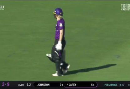 WATCH: Nicola Carey left stunned as flying fielder ends her innings