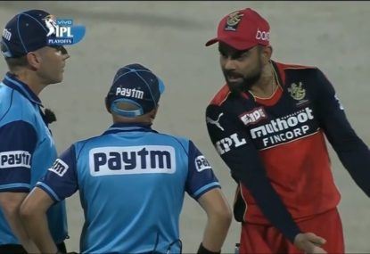 Virat Kohli blows up at umpire after three decisions against his team were overturned by DRS
