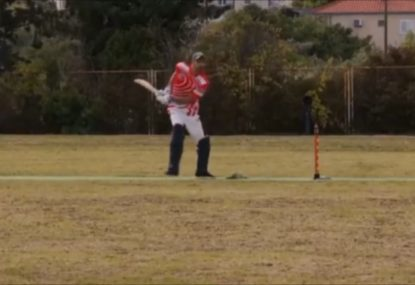 WATCH: 'The best dot ball in cricket history!' You've never seen a block this bonkers before