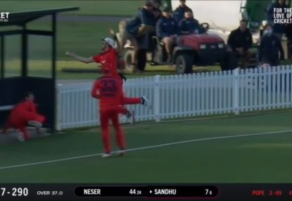 SA's utterly extraordinary relay catch attempt leaves commentators in a spin