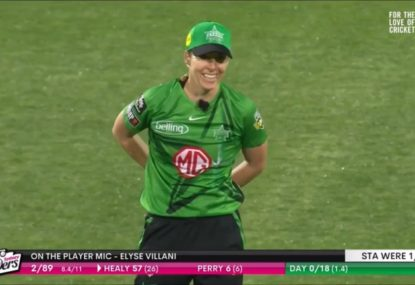 Mic'd up WBBL star's hilarious X-rated slip of the tongue while on live TV