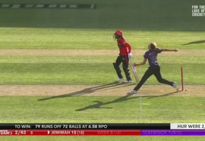On-field umpires somehow miss this massive no-ball that nearly resulted in a wicket