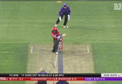'Oh dear': Did this unawarded plumb LBW burn the Hurricanes?