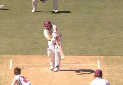 Marnus Labuschagne reacts like we all would to copping one flush to the unmentionables